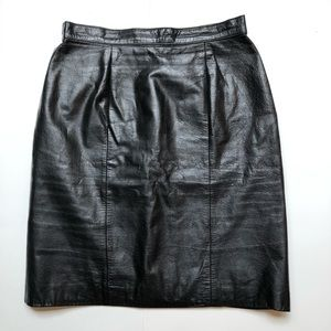 Vintage Midway | Genuine Leather Pencil Skirt